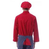 Tipo de producto uniforme de la fabricación de encargo uniforme del cocinero de las camisas y de las tapas del cocinero