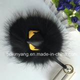 Mostro Keychains della pelliccia della peluche di Keychains del metallo della sfera della pelliccia del Faux delle sfere della pelliccia del Raccoon