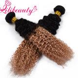 Волосы Ombre девственницы человеческих волос цвета 2 тонов белокурые