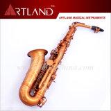 Eb de Zeer belangrijke Lak van het Brons is met klaar het Graveren van de Professionele Saxofoon van de Alt (AAS6706)