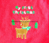 Personalizado bordado de Navidad algodón terry bebé promocional bebé desgaste babero