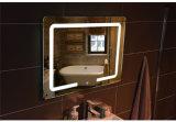De LEIDENE van de Make-up van de strook Slimme Spiegel van de Badkamers, de Verlichte Afgeschuinde Spiegel van de Muur, het Kleden zich de Lichte Spiegel van het Glas
