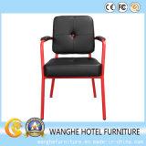 Hotel-Großhandelsreplik-modernes Metall, das stapelbaren seitlichen Draht-Stuhl speist