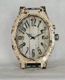 Relógio de relógio afligido relógio de parede de metal