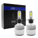 S2 6500k LED Headlight Kit H3 Replace Lâmpada LED 1 Set 72W 8000lm COB Chip para carro LED Lamp