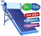 Calentador de agua solar compacto del tubo de vacío de Unpressure, colector solar