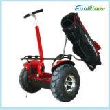 De Elektrische Autoped van het Gebruik van het golf, Voertuig van de Mobiliteit van het Merk Ecorider het Persoonlijke, de Kar van het Golf van Twee Wiel