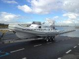 Liyaのヨット27FTのガラス繊維のHypalonのボート20の人の客船