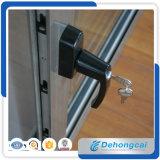 Used Profilo di alluminio che fa scorrere doppia finestra di vetro con la rete di zanzara