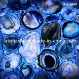 Blaues Agate Glass Mosaic Tile für Swimming Pool, Bathroom Flooring