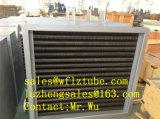 乾燥プラント、粉のためのより乾燥した装置のためのひれ付き管の熱交換器