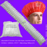Transparent Polyethylene 또는 Poly/HDPE/LDPE/Plastic/Clear/Bathing/Hotel/Strip/Clip/Stripe/Travel 방수 Disposable PE Shower Cap 의 Disposable PE Bath Cap