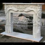 Camino bianco Mfp-100 di Carrara del granito di pietra di marmo dell'interno