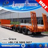中国の工場3車軸50トン販売のための低いベッドのトラックのトレーラー60トンの
