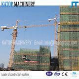 Guindaste de torre do comprimento Tc5013 de patíbulo do tipo 50m de Katop para a maquinaria de construção