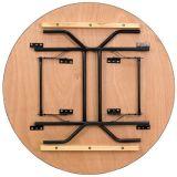 Diamètre 183cm Tableaux de banquet se pliants de contre-plaqué rond extérieur de 72 pouces