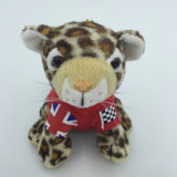 Jouet de peluche de léopard bourré par animal mol fait sur commande de jungle de jouet de bébé