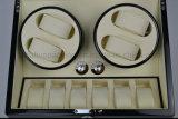 Bobinier en bois automatique de montre du piano 4+6 noir de bonne qualité