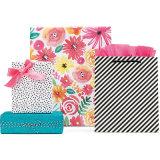 Le cadeau de nid d'abeilles met en sac les sacs à provisions neufs de papier de modèle avec le laminage