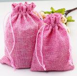 De natuurlijke Zak van Drawstring van de Katoenen Zak van het Linnen voor Suikergoed of Snoepje