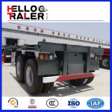 2 de Vrachtwagen van de Aanhangwagen van het Skelet van de Container van de as 20FT