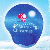 Kundenspezifische fördernde Silikon-Gel-Spiel-Mausunterlage für Weihnachtsgeschenk