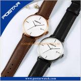 Relógio resistente delicado de quartzo de Limted do número de série da água da versão simples
