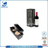 Rectángulo de regalo redondo del vino del tubo de la muestra libre