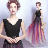 새로운 형식 긴 소매 야회복 우아한 호리호리한 숙녀 정장 드레스