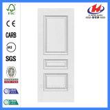 Pele branca exterior de madeira lisa da porta da primeira demão (JHK-M03)