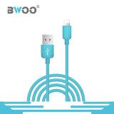 Tipo-c micro modificado para requisitos particulares cable del relámpago colorido de datos del USB