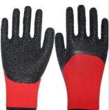 최고 까만 마이크로 거품 유액은 방어 손을%s 3/4의 Plam 안전 작동 장갑을 입혔다