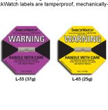 37g logística mundial del indicador del choque del Shockwatch 1 que sigue escrituras de la etiqueta