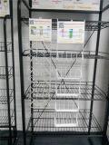 Подгонянный логос свободно стоя металл провода оборудует стеллаж для выставки товаров выставки