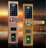 Bloqueo de puerta biométrico Keyless de la huella digital del bloqueo de puerta de Digitaces con código y teledirigido de múltiples funciones