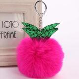Decoração popular das bolsas do Pompom dos acessórios Shaped quentes da esfera da pele da forma para as meninas FT054