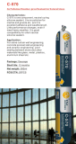 Pierre économique pour la puate d'étanchéité de silicones de mur rideau