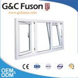 Finestra di alluminio della stoffa per tendine di apertura esterna lustrata doppio con vetro Tempered