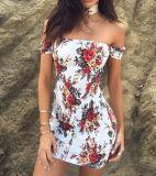 Платье вечера партии Bodycon чокеровщика женщин флористическое без бретелек