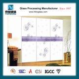 صنع وفقا لطلب الزّبون تصميم [سلك سكرين] طباعة زجاجيّة خزانة ثوب باب لأنّ غرفة نوم أثاث لازم