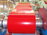 El color cubrió la bobina de acero/el acero de hoja de acero galvanizado del material para techos (0.13--0.8m m)