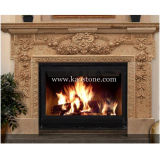 벽난로 Mantel, Indoor & Outdoor를 위한 Natural Stone Yellow Marble Fireplace