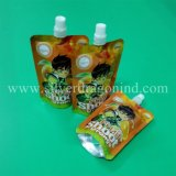 Kundenspezifische Farbe und Form Doypack für Saft mit Tülle