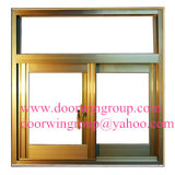 Color Bronze Aluminum Sliding Windows per Villa House