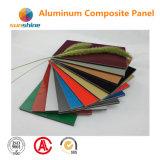 Fabricant composé en aluminium d'Acm ACP de panneau de mur du matériel PVDF 4mm de décoration