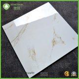 白い大理石の一見の十分に磨かれた艶をかけられた床タイル600X600 800X800