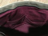 Sacchetto di Tote incerato semplice del cuoio della tela di canapa dell'annata per le signore