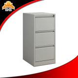 Cabinet de dossier vertical coloré de bureau de 3 tiroirs de conception moderne