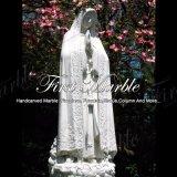 Statua bianca Ms-908 della Mary di Virgin di Carrara della statua di pietra di marmo del granito