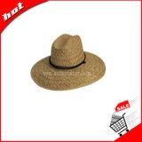 O chapéu de palha, chapéu do safari da arremetida, chapéu de palha oco protege o chapéu de Sun